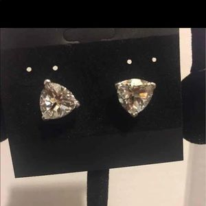 Sterling silver with crystal clear CZ earrings